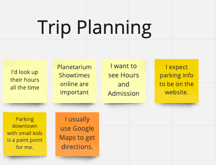 parent trip planing